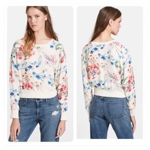 Theory 'Delpy' Floral Print Panel top